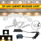 Meilleurs prix DC12V 2.5W 6-In-1 LED Recessed Cabinet Light Ceiling Panel Down Slim Kitchen Lamp + EU Plug with Switch