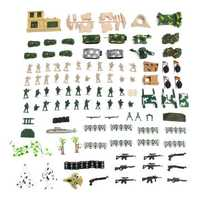 130 Pcs Plastic Military Model Children Toys Mini Soldier Army Men Figures Accessories Set