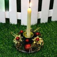 Christmas Vintage Candle Holder Romantic Candlestick Home Shop Bar Party Supplies Table Decorations