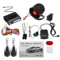 Universal 1 Way 2 Remote Car Vehicle Protection Alarm Security System Keyless Entry Siren