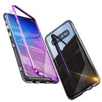 Bakeey Magnetic Adsorption Protective Case For Samsung Galaxy S10e/S10/S10 Plus Aluminum Alloy Bumper Tempered Glass Cover
