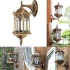 Les plus populaires Outdoor Bronze Antique Exterior Wall Light Fixture Aluminum Glass Lantern Garden Lamp