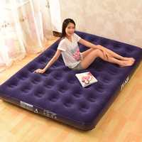 Deluxe Inflatable Bed Outdoor Soft Flocked Top For Comfort Airbed Twin Queen King Size Bed