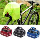 Recommended 2 in 1 32*17*19 Large Capacity Waterproof Bike Bicycle Rear Seat Rack Riding Bag Mobile Phone Tablet Travel Storage Pack with Belt + Rain Cover