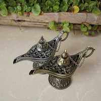 12X4X7.5CM Hollowed-out Carving Retro Classic Aladdin Wishing Lamp Furnishing Articles