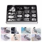 Meilleurs prix KCASA 16Pcs Domestic Sewing Machine Presser Foot Feet Kit Set Hem Foot Spare Parts Accessories With Box For Brother Singer Janom
