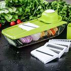 Bon prix KCASA KC-MFP3 Vegetable Cutter Food Container Adjustable Mandoline Slicer 4 Interchangeable Blades