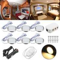 6pcs 12V Spot Ceiling Light Lamp Dimmer Cabinet Lamp For Caravan Camper Trailer