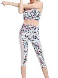 Colorful Printing Yoga Tracksuit Fitness Leggings Sport Suit
