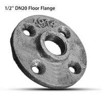 1/2 Inch DN20 Cast Iron Steel Tube Pipe Floor Flange Pipe Fitting Wall Mount