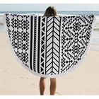 Promotion 150cm Pure Cotton Bohemia Roud Tassel Knitted Beach Towel Lantern Towel Home Blanket