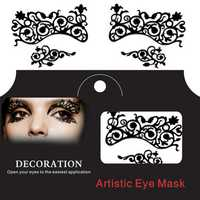 Eye Tattoo Sticker Halloween Lace Squishy Eyes Liner Fretwork Masquerade Papercut Temporary Face