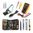 Meilleurs prix Handskit 220V 60W Temperature Electric Solder Iron Multimeter Tools Kit with 8 in1 Screwderiver Wire Cutter Desoldeirng Pump