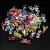 50pcs 27x10x15mm Plastic Paper Clips Elliot Folder Clamps