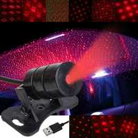 Mini LED Car Roof Ceiling Star Night Light Projector Lamp Interior Atmosphere Decoration Starry Projector USB Plug