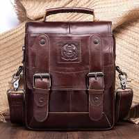 Men Genuine Leather Messenger Bag Shoulder Bag Handbags