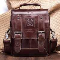 Men Genuine Leather Messenger Bag Shoulder Bag Handbags