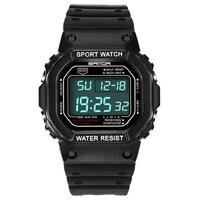 SANDA 329 Fashion LED Display Men Watch Waterproof Sport Digital Watch