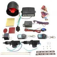 Universal Vehicle Central Locking Remote Kit Car Alarm Immobiliser Shock Sensor