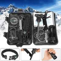 IPRee® 13 In 1 Outdoor EDC SOS Survival Case Multifunctional Tools Kit Box Camping Emergency