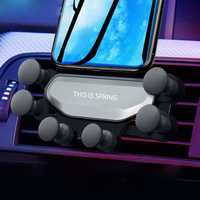 Bakeey Upgrade Air Cushion Gravity Linkage Automatic Lock Air Vent Car Phone Holder for 4.0-6.5 Inch Smart Phone iPhone XS Max Samsung Galaxy S10+