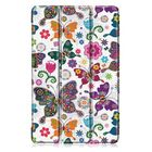 Bon prix Tri-Fold Printing Tablet Case Cover for Samsung Galaxy Tab A 10.1 2019 T510 Table - Butterfly