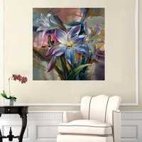 40X50CM New Beauty Purple Lily Painting DIY Self Handicraft Paint Kit Unframed Home Decoration