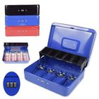 Offres Flash Metal Mini Cash Box Drawer Lock Bank Deposit Safe Password Security Tray Storage Box
