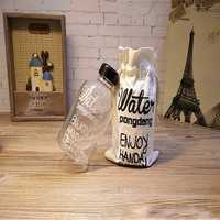 Creative 1L High Capacity Water Glass Drinkware Transparent Water Bottle with a Bag