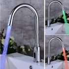 Prix de gros Creative Kitchen Sink Induction Sensor Faucet Hands Free LED Changing Kitchen Dual Hot Cold Mixer Tap Home Bathroom Automatic Device