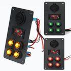 Bon prix Rocker Switch Panel Battery Charge Level Voltmeter Power Socket Dual USB Charger