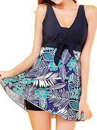 Plus Size 5XL Women Floral Printing Swimsuits Beachwear