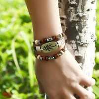 Vintage Maple Leaf Multi Layer Bracelet