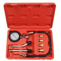 Pro Petrol Gas Engine Cylinder Compression Tester Oil Pressure Gauge Kit Motor Auto