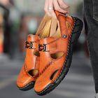 Meilleurs prix Cowhide Casual Soft Walking Sole Beach Leather Sandals
