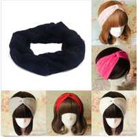 Women Lace Flowers Headband Head Knot Soft Hair Band Headdress Accessories 6 Colors