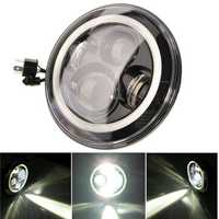 7 Inch Round LED Headlights Halo Angle Eyes For Jeep Wrangler JK LJ TJ 1997-2015