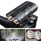 Meilleurs prix XANES DL06 1200LM 2T6 150° Large Floodlight 6000mAh Battery Bicycle Headlight 4 Modes USB Rechargeable