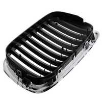 Front Chrome Black Grille Grill For BMW 95-04 E39 5-series 525 530 535 540 M5