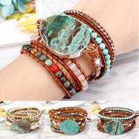 Ethnic Ocean Jasper Stone Bracelet