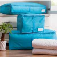 Portable Quilts Storage Bags Packing Luggage Folding Storage Box Clothes Organizer Bags Home Storage Organizer