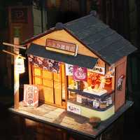 Hoomeda 1/24 DIY Wooden Grocery With LED Cover Furniture Dollhouse