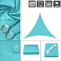 300D 160GSM Heavy Duty Sun Shade Sail Waterproof UV Garden Patio Awning Canopy Tent Sunshade Shelter Outdoor Camping