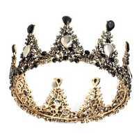 Bridal Crown Wedding Full Rhinestone Round Tiara Headpiece