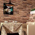 Acheter au meilleur prix 10M 3D Wallpaper Roll PVC Brick Grain Waterproof Wallpaper Natural Wood Pulp Dull Polish Wall Decor