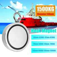 Double Side 160-1500KG Neodymium Fishing Salvage Recovery Magnet For Detecting Metal Treasure