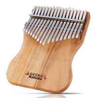 GECKO K17CAP 17 Keys Kalimba Camphorwood Thumb Piano Finger With Tuning Hammer
