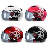 BYB Motorcycle Helmet Scooter Bike Open Face Half Baseball Cap Anti-UV Safety Hard Hat