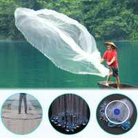 2.4M/3.6M Hand Cast Fishing Net Spin Nylon Fish Bait Net With Sinker