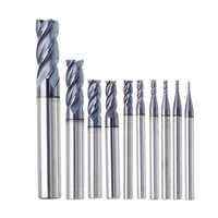 Drillpro 1-10mm HRC55 TiAlN 4 Flutes End Mill Cutter Tungsten Carbide Milling Cutter CNC Tool